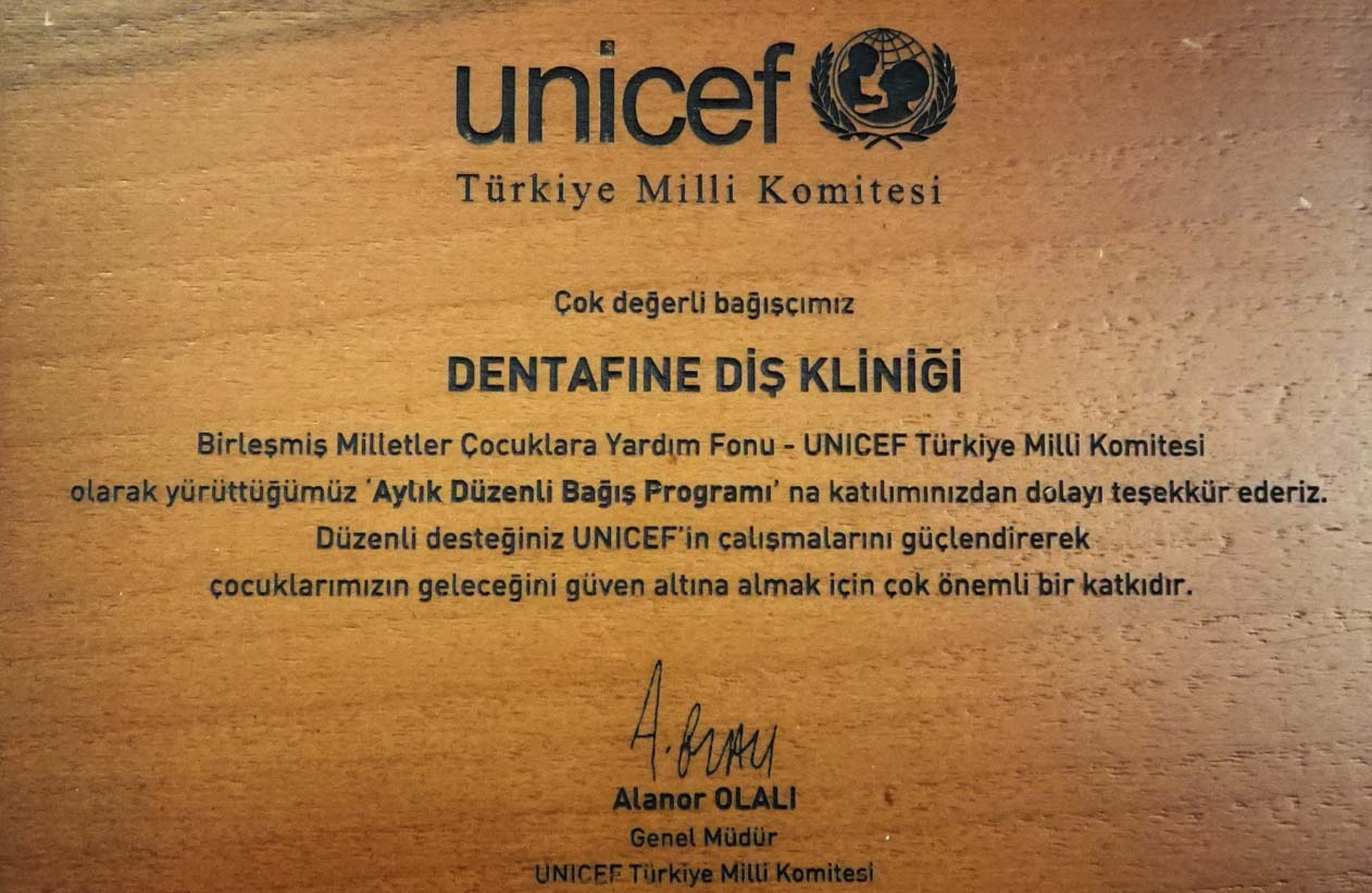Dr. Semih Süreyya YAZICI   Unicef   Bağış Programı   2005-20..